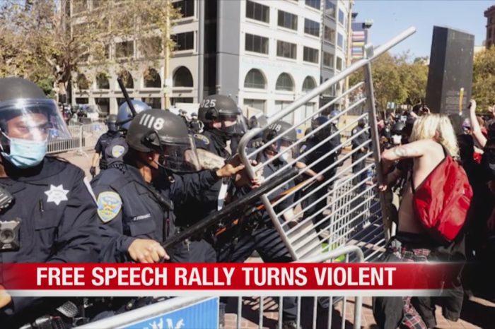 Antifa usa técnicas de grupos de choque chavistas para atacar manifestaciones conservadoras
