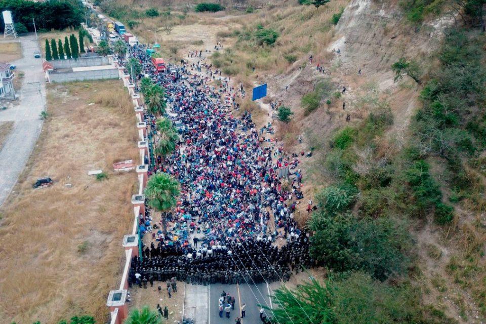 las caravanas de migrantes centroamerica - primer informe