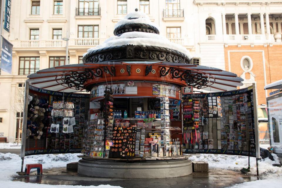 la nieve en Madrid y el periodismo impreso - primer informe