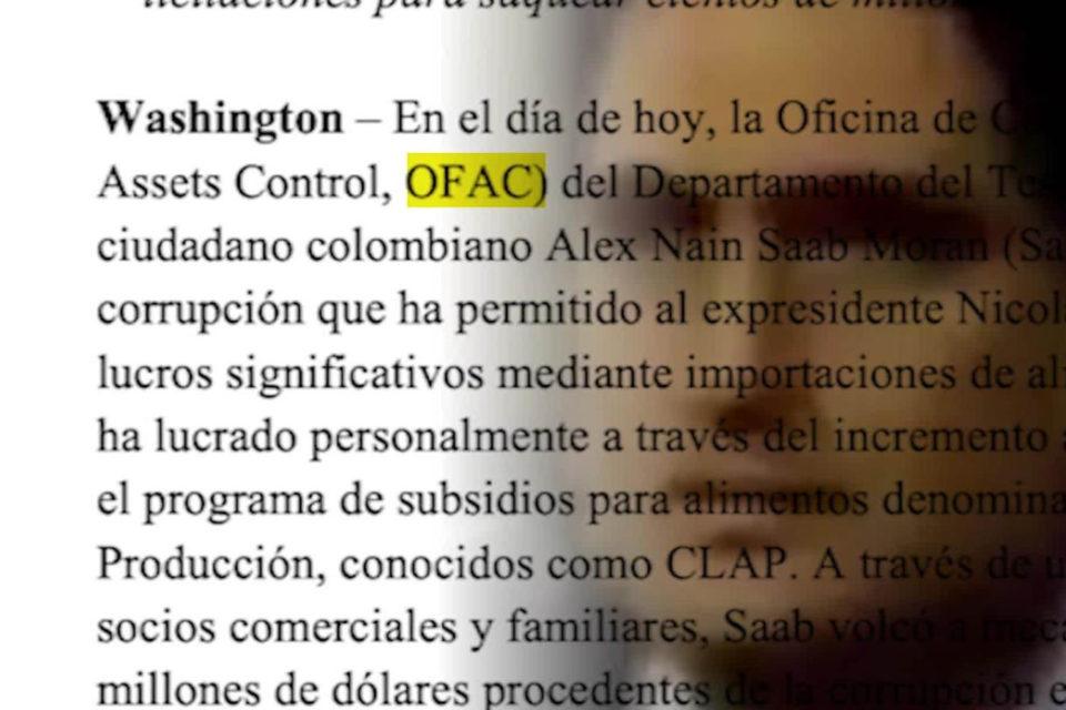 EEUU sobre el caso Alex Saab - Primer Informe